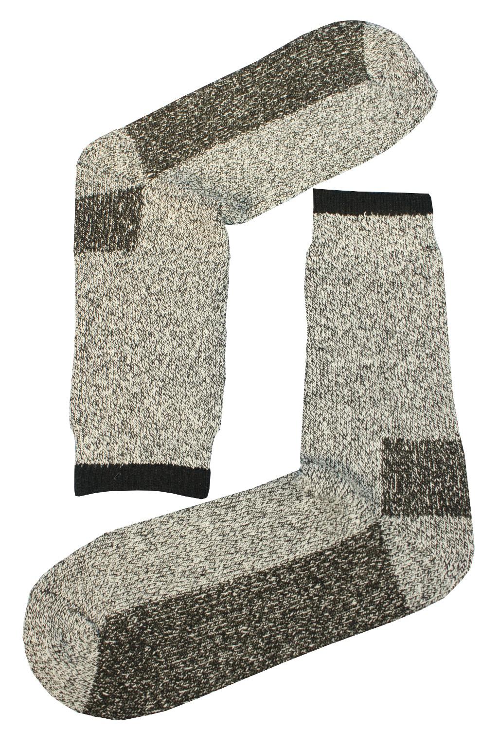Teplé vlněné ponožky Thermo 39-42 světle šedá