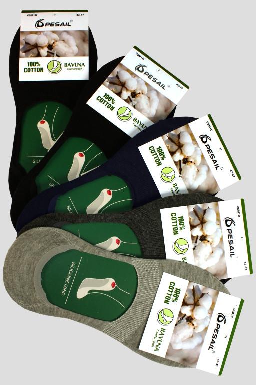 Pánské skryté ponožky 100 % bavlna - 5 párů MIX