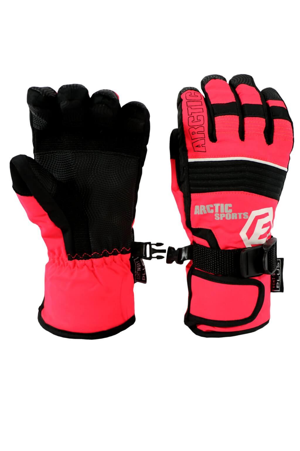 Finn dětské zimní rukavice C075 10-11 let světle červená 9dea00071a
