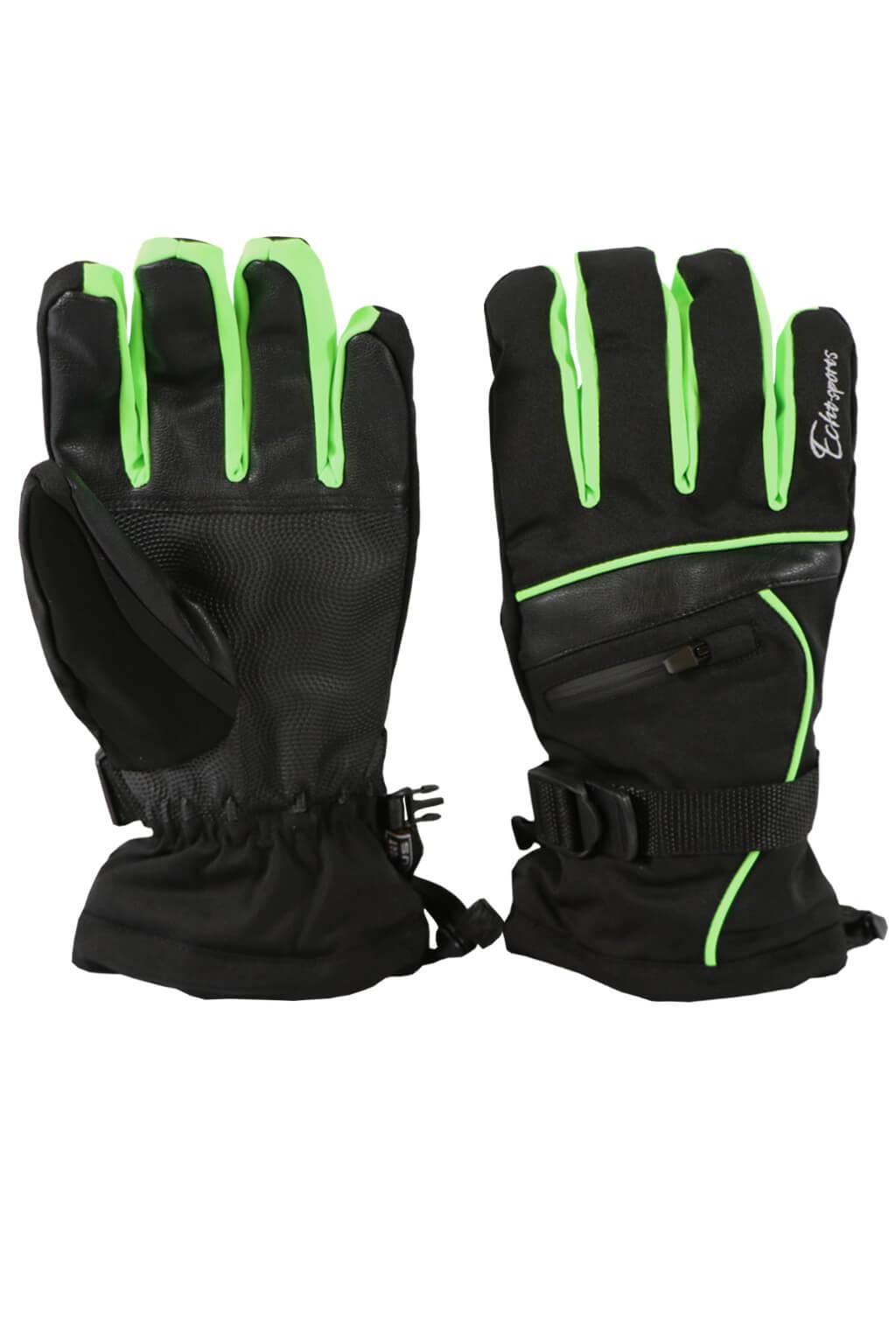 Gloves pánské lyžařské rukavice HX001 L zelená ba5ab24603