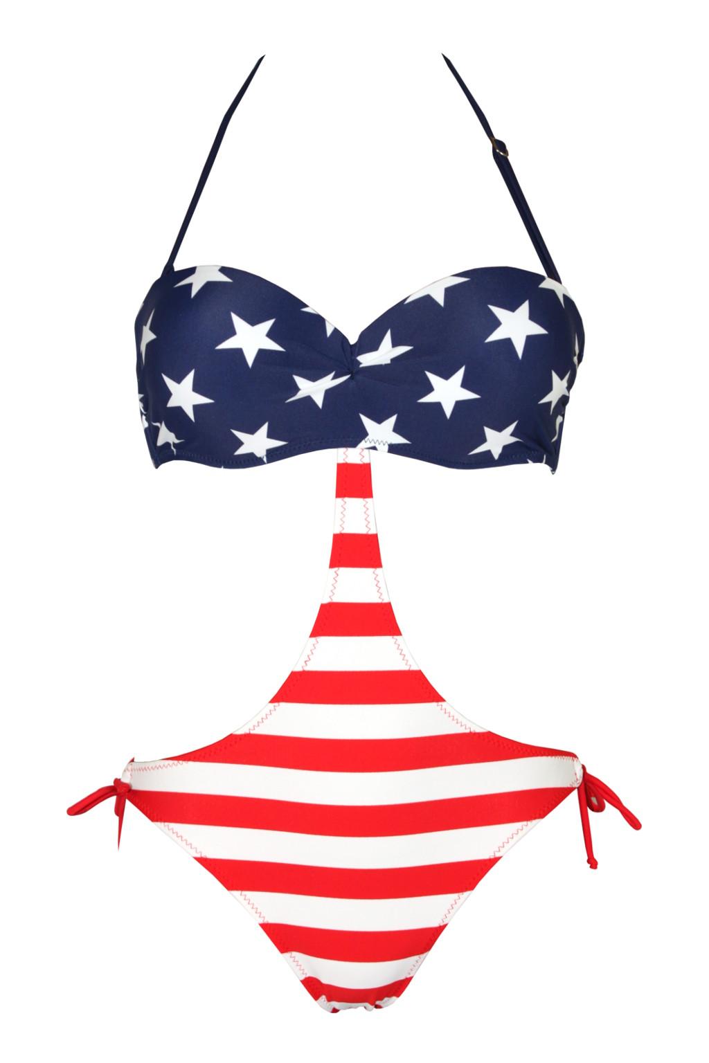 23b5ccb44 Americana sexy plavky L modrá