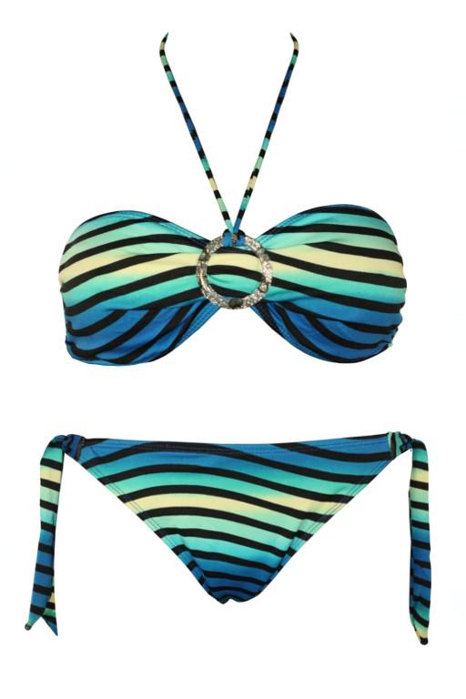 9baa0e9d4bf Great Stripes plavky dvoudílné - výprodej M modrá