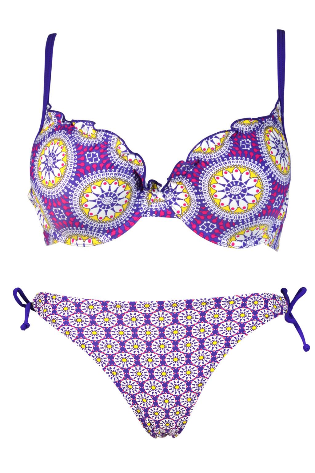 Briane Sun II. dvojdílné plavky s kosticí XL fialová
