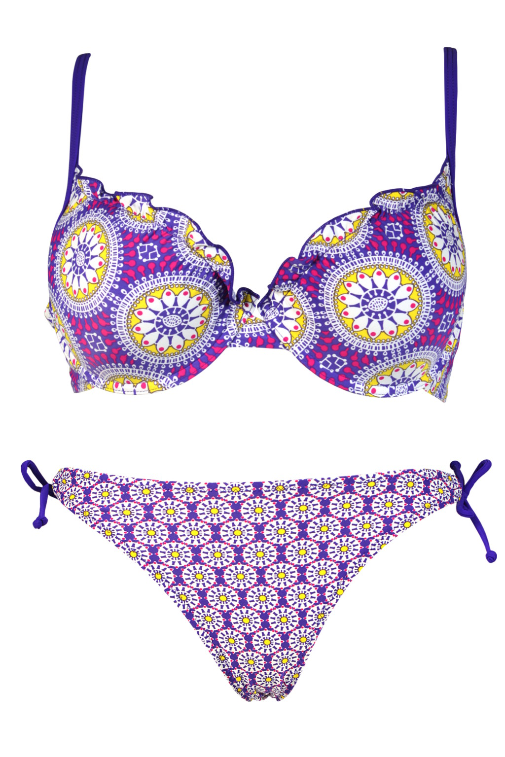 Briane Sun II. dvojdílné plavky s kosticí L fialová