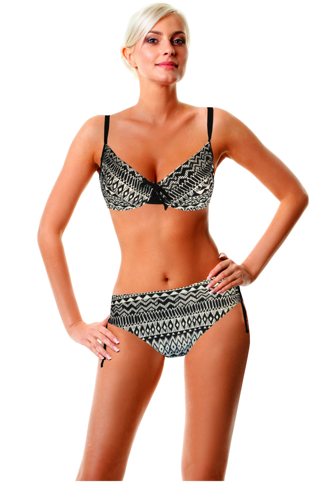 Africana dvojdílné plavky s kosticí XXL černá