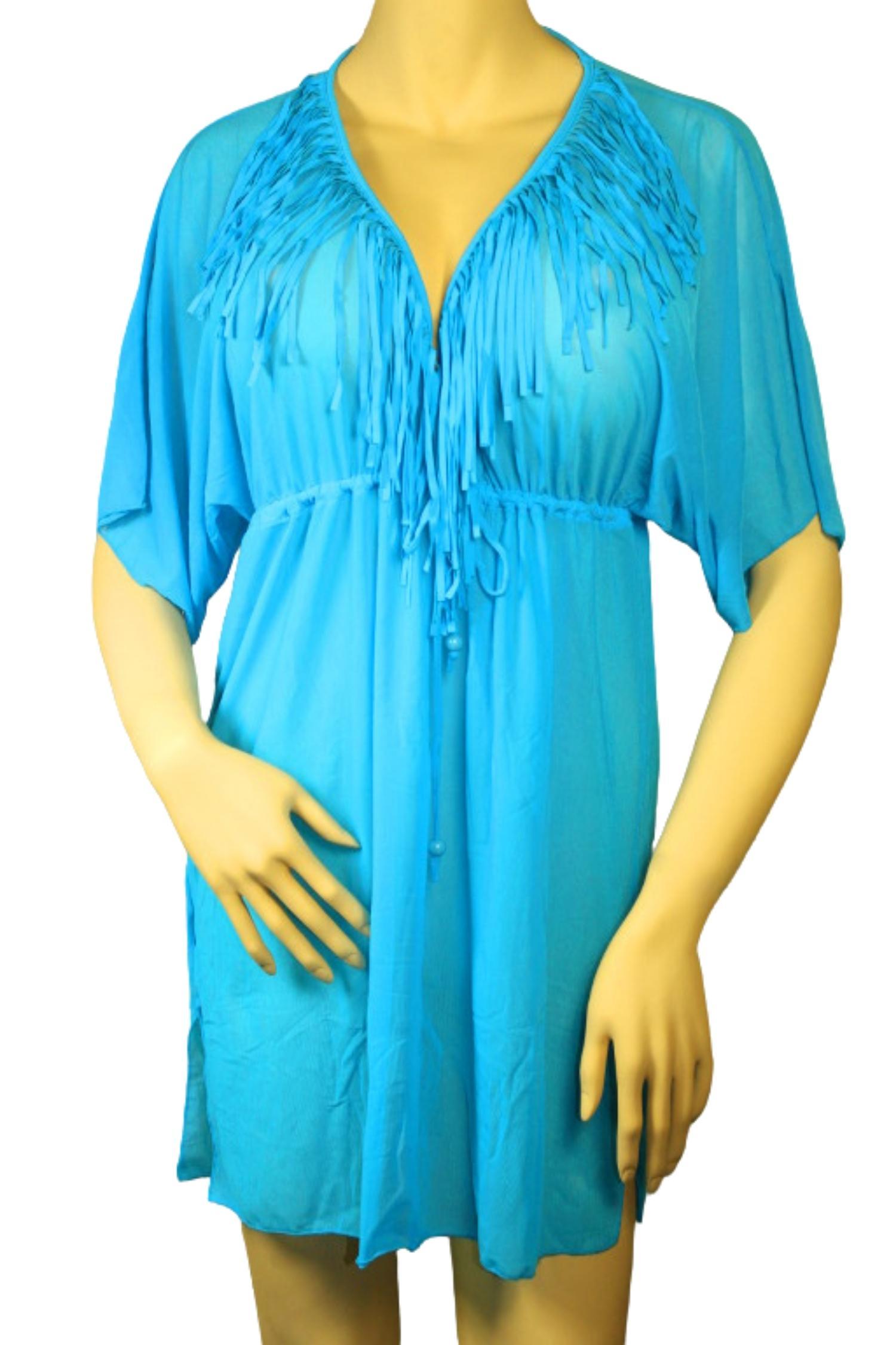 Gabana Blue šaty na plavky XXL modrá
