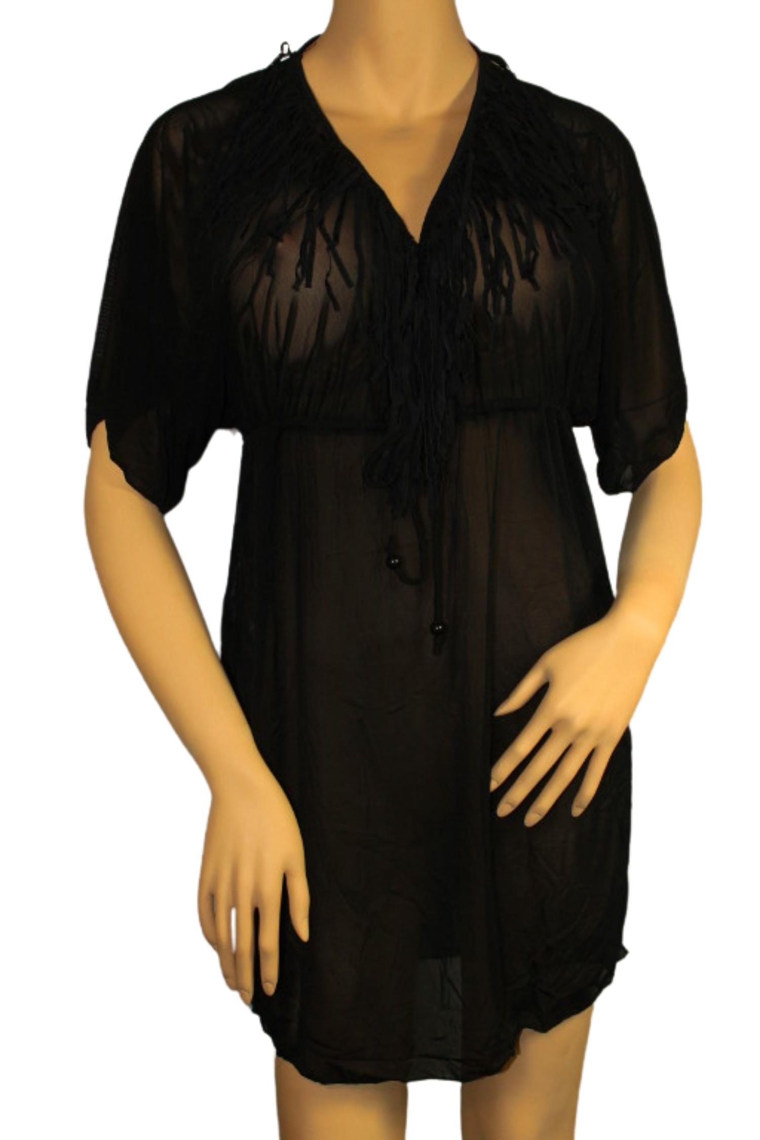 Gabana Black tunikové šaty na plavky XL černá