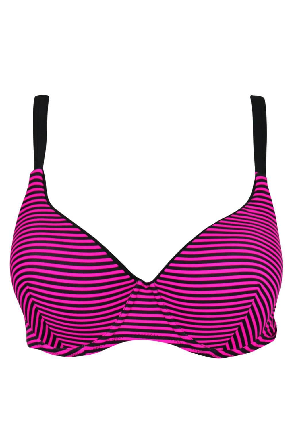 081b9255a7b Rafaella Pink plavky horní díl S798 tmavě růžová 4XL