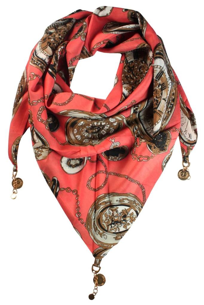 ea21a182fd7 Clock trojúhelníkový šátek s potiskem levné prádlo