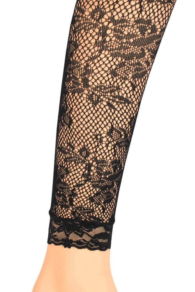 Kobe dámské krajkové sexy legíny černá  1f4e8587a4