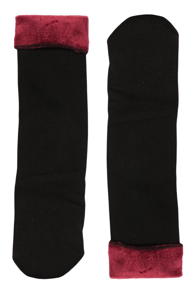 Sněhové dámské ponožky plyšové levné prádlo  57b371b3b8