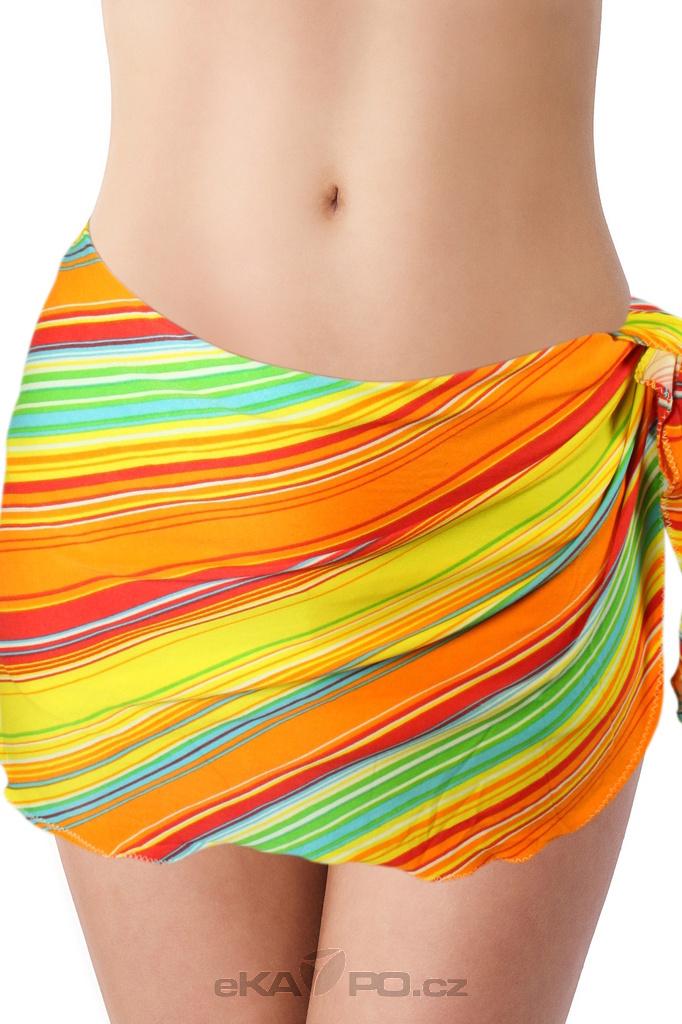 Aqua H - šátek oranžová velikost  x  e29eb72330